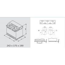 Μπαταρία Αυτοκινήτου Omnitech Batteries High Performance L2 AGM 60 Start Stop 12V  Capacity 20hr 60(Ah):EN (Amps): 680EN Εκκίνησης