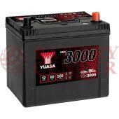Μπαταρία Αυτοκινήτου YUASA YBX3005 12V 60Ah 500A Yuasa SMF Battery