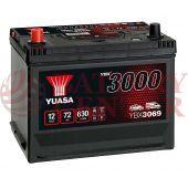 Μπαταρία Αυτοκινήτου YUASA YBX3069 12V 72Ah 630A Yuasa SMF Battery