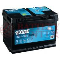 Μπαταρία Exide EK700 Start Stop AGM Carbon Boost Techonology 12V Capacity 20hr  70(Ah):EN (Amps): 760EN Εκκίνησης