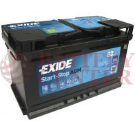 Μπαταρία Exide EK800 Start Stop AGM Carbon Boost Techonology 12V Capacity 20hr  80(Ah):EN (Amps): 800EN Εκκίνησης