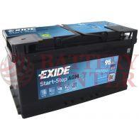Μπαταρία Exide EK950 Start Stop AGM Carbon Boost Techonology 12V Capacity 20hr  95(Ah):EN (Amps): 850EN Εκκίνησης
