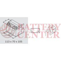 Μπαταρία Yuasa TTZ7S 12V MF Battery Capacity 20hr 6.3 (Ah):EN1 (Amps):  90CCA
