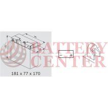 Μπαταρία Μοτοσυκλέτας BS-BATTERY  51913  DRY 19AH 210EN