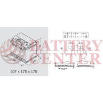Μπαταρία Αυτοκινήτου YUASA YBX3063 12V 45Ah 425A Yuasa SMF Battery