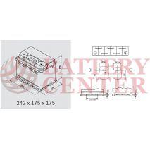 Μπαταρία Αυτοκινήτου YUASA YBX3075 12V 60Ah 550A Yuasa SMF Battery