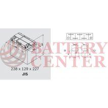 Μπαταρία Αυτοκινήτου YUASA YBX3053 12V 45Ah 400A Yuasa SMF Battery