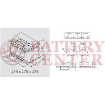 Μπαταρία Αυτοκινήτου YUASA YBX7100 12V 65Ah 650A Yuasa EFB Start Stop Battery