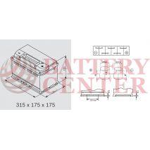 Μπαταρία Αυτοκινήτου YUASA YBX7110 12V 75Ah 730A Yuasa EFB Start Stop Battery