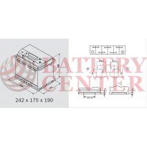 Μπαταρία Αυτοκινήτου YUASA YBX7027 12V 65Ah 600A Yuasa EFB Start Stop Battery