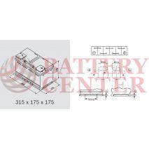 Μπαταρία Αυτοκινήτου YUASA YBX5110 12V 85Ah 800A Yuasa Silver High Performance Battery