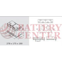 Μπαταρία Αυτοκινήτου YUASA YBX5096 12V 80Ah 760A Yuasa Silver High Performance Battery