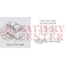 Μπαταρία Αυτοκινήτου YUASA YBX9115 12V 80Ah 800A Yuasa AGM Start Stop Plus Battery