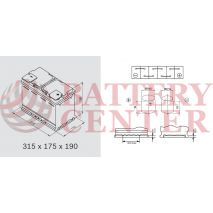 Μπαταρία Αυτοκινήτου YUASA  YBX9020 12V 105Ah 950A Yuasa AGM Start Stop Plus Battery