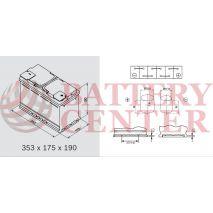 Μπαταρία Αυτοκινήτου YUASA YBX9019 12V 95Ah 850A Yuasa AGM Start Stop Plus Battery