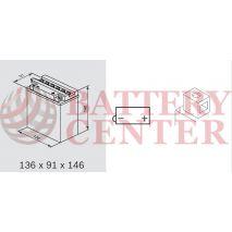 Μπαταρία Μοτοσυκλέτας BS-BATTERY  BB10L-A2  DRY 11.6AH 130EN Αντιστοιχία YB10L-A2