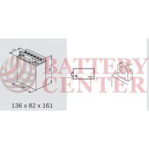 Μπαταρία Μοτοσυκλέτας BS-BATTERY  BB12A-A  DRY 12.6AH 155EN Αντιστοιχία YB12A-A