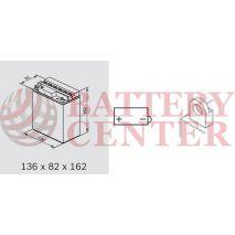 Μπαταρία Μοτοσυκλέτας BS-BATTERY  BB12A-B  DRY 12.6AH 155EN Αντιστοιχία YB12A-B