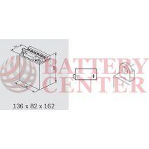 Μπαταρία Μοτοσυκλέτας BS-BATTERY  BB12AL-A2  DRY 12.6AH 155EN Αντιστοιχία YB12AL-A2