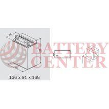Μπαταρία Μοτοσυκλέτας BS-BATTERY  BB14-A2  DRY 14.7AH 175EN Αντιστοιχία YB14-A2