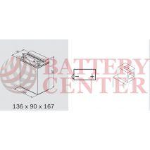Μπαταρία Μοτοσυκλέτας BS-BATTERY  BB14L-A2  DRY 14.7AH 175EN Αντιστοιχία YB14L-A2