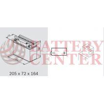 Μπαταρία Μοτοσυκλέτας BS-BATTERY  BB16AL-A2  DRY 16.8AH 210EN Αντιστοιχία YB16AL-A2