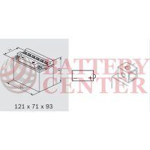 Μπαταρία Μοτοσυκλέτας BS-BATTERY  BB4L-B  DRY 4.2AH 50EN Αντιστοιχία YB4L-B