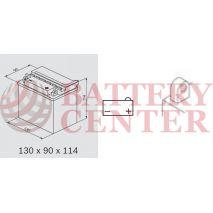 Μπαταρία Μοτοσυκλέτας BS-BATTERY  BB7C-A DRY 8.4AH 85EN Αντιστοιχία YB7C-A
