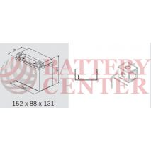 Μπαταρία Μοτοσυκλέτας BS-BATTERY BTX12 SLA 10.5AH 180EN Αντιστοιχία YTX12-BS