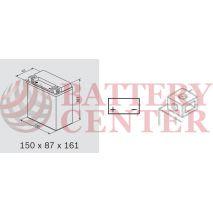 Μπαταρία Μοτοσυκλέτας BS-BATTERY  BTX16-BS  MF 14.7AH 230EN Αντιστοιχία YTX16-BS