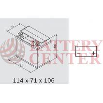 Μπαταρία Μοτοσυκλέτας BS-BATTERY  BTX5L-BS  MF 4.2AH 80EN Αντιστοιχία YTX5L-BS