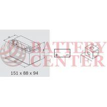 Μπαταρία Μοτοσυκλέτας BS-BATTERY BTX7A SLA 6.3AH 105EN Αντιστοιχία YTX7A-BS