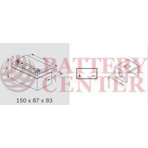 Μπαταρία Bosch YTZ10S M6011  12V AGM  Battery Capacity 10hr 8(Ah):EN1 (Amps): 150CCA