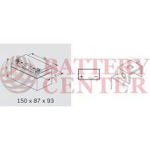 Μπαταρία Bosch YTZ12S M6012  12V AGM  Battery Capacity 10hr 9(Ah):EN1 (Amps): 200CCA