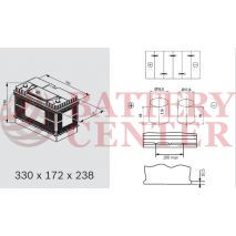 Varta LFS105N Marine-Leizure Professional Dual Purpose 12V 105Ah (C20) RC193Min MCA1000A  800EN A Εκκίνησης