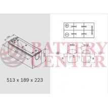 Varta LFD140 Marine-Leizure Professional Dual Purpose 12V 140Ah (C20) RC284Min MCA1000A  800EN A Εκκίνησης