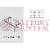 Varta LFD230 Marine-Leizure Professional Dual Purpose 12V 230Ah (C20) RC499Min MCA14300A  1150EN A Εκκίνησης
