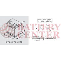 Μπαταρία Αυτοκινήτου YUASA YBX5202 12V 45Ah 400A Yuasa Silver High Performance Battery