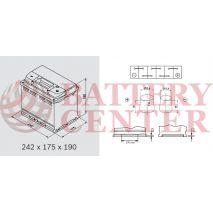 Μπαταρία Αυτοκινήτου YUASA YBX3027 12V 60Ah 550A Yuasa SMF Battery