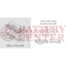 Μπαταρία Varta Black Dynamic F6 12V Capacity 20hr 90(Ah):EN (Amps): 720EN Εκκίνησης