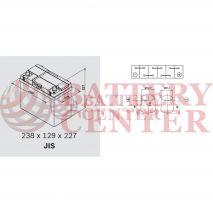 Μπαταρία Varta Blue Dynamic B33 12V Capacity 20hr 45 (Ah):EN (Amps): 330EN Εκκίνησης