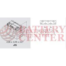 Μπαταρία Varta Blue Dynamic B34 12V Capacity 20hr 45 (Ah):EN (Amps): 330EN Εκκίνησης