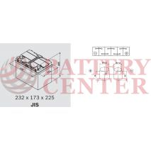 Μπαταρία Αυτοκινήτου Omnitech Batteries High Performance D23R EFB  65 Start Stop 12V  Capacity 20hr 65(Ah):EN (Amps): 650EN Εκκίνησης