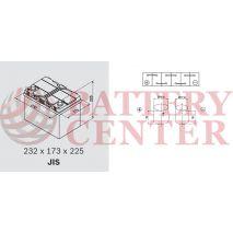 Μπαταρία Αυτοκινήτου Omnitech Batteries High Performance D23L EFB  65 Start Stop 12V  Capacity 20hr 65(Ah):EN (Amps): 650EN Εκκίνησης