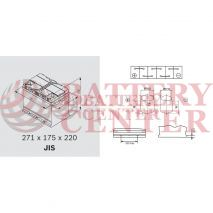 Μπαταρία Exide EP650 Marine & Multifit  Dual AGM 12V Capacity 20hr  75(Ah):EN (Amps): 775EN A Εκκίνησης