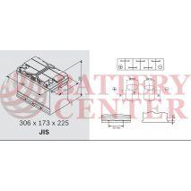 Μπαταρία Αυτοκινήτου OMNITECH Premium Power 12V D31L Capacity 20hr  95(Ah):EN (Amps): 760EN Εκκίνησης