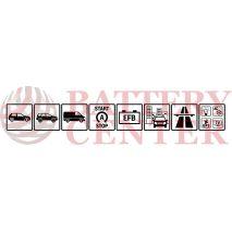 Μπαταρία Exide EL955 Start Stop EFB Carbon Boost Techonology 12V Capacity 20hr  95(Ah):EN (Amps): 800EN Εκκίνησης
