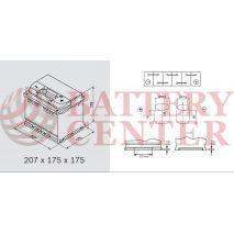 Μπαταρία Αυτοκινήτου 1863091 Ford Motorcraft  12V Calcium Plus Capacity 20hr 44(Ah) EN (Amps) 440EN Εκκίνησης