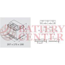 Μπαταρία Αυτοκινήτου OMNITECH Premium Power 12V L1 45 Capacity 20hr 45(Ah):EN (Amps): 450EN Εκκίνησης