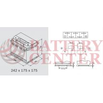 Μπαταρία Αυτοκινήτου 1863092 Ford Motorcraft  12V Calcium Plus Capacity 20hr 60(Ah) EN (Amps) 540EN Εκκίνησης